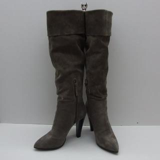 miumiu - ♯0559・miu miu ミュウミュウ ブーツ スエードグレー イタリア製