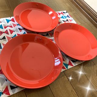 イッタラ(iittala)のイッタラ iittala おそらく赤 レッド お皿 三枚組 3枚 21cm(食器)