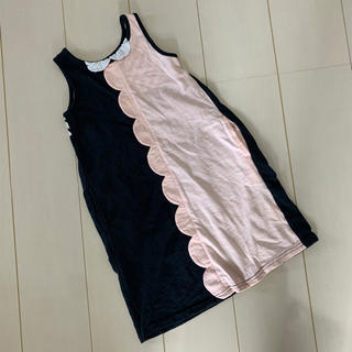 ユニカ(UNICA)のユニカ スカラップ衿付きノースリワンピース 110(ワンピース)
