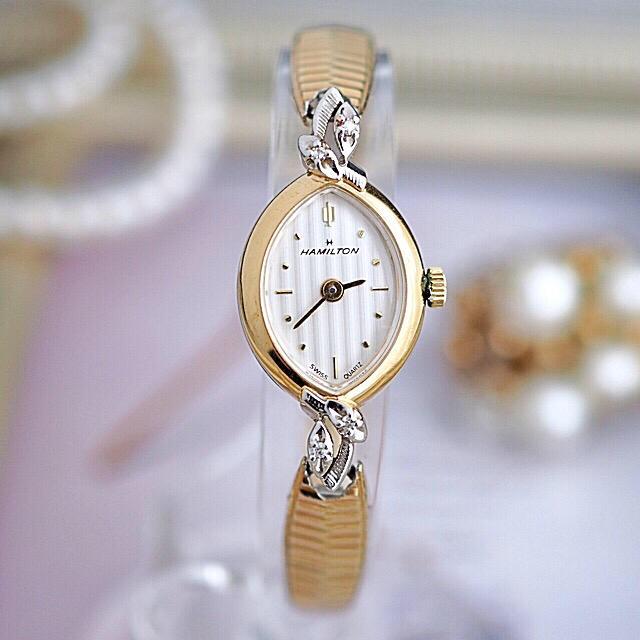 ルイヴィトン コピー a級品 - Hamilton - 極美品✨ハミルトン 4Pダイヤ マーキス 時計✨オメガ agete ティファニーの通販