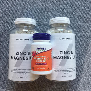 マイプロテイン(MYPROTEIN)の【ちょこさん専用】亜鉛&マグネシウム270粒 x2本 と ビタミンD120粒(ビタミン)