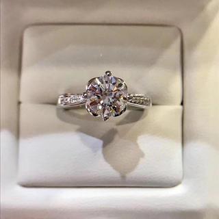 【newデザイン】白金の薔薇 モアサナイト ダイヤ リングK18ホワイトゴールド(リング(指輪))