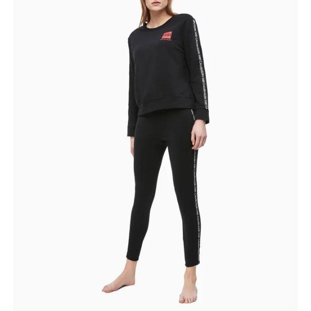 Calvin Klein(カルバンクライン)のCALVIN KLEIN ラウンジ レギンス パンツ スパッツ ブラック S レディースのレッグウェア(レギンス/スパッツ)の商品写真