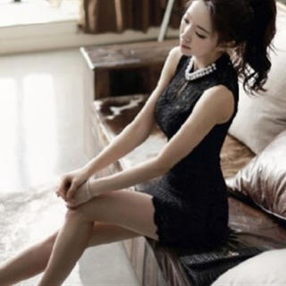 《新品》キャバドレス 二重パール ミニワンピ 韓国 ミニドレス(ミニワンピース)
