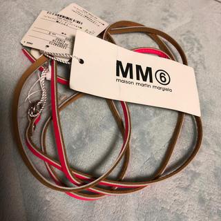 エムエムシックス(MM6)のMM6 レザー ベルト ブレスレット マルジェラ(ブレスレット/バングル)