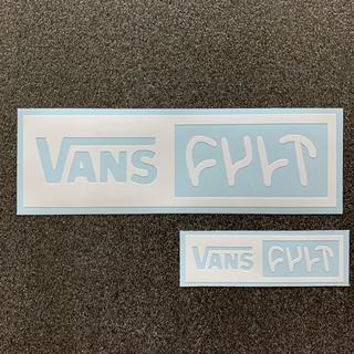 """ヴァンズ(VANS)の2枚セット """"VANS × CULT"""" ロゴカッティングステッカー BMX(ステッカー)"""