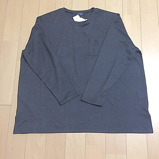 アベイル(Avail)の【新品】胸ポケット付き プルオーバー カットソー 3L 大きいサイズ(カットソー(長袖/七分))