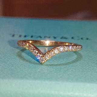 ティファニー(Tiffany & Co.)のティファニー ソレスト Vバンド リング ダイヤ ダイヤモンド k18 V字(リング(指輪))