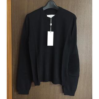マルタンマルジェラ(Maison Martin Margiela)のM新品50%of メゾンマルジェラ レディース エルボーパッチ ブラック ニット(ニット/セーター)