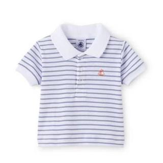 プチバトー(PETIT BATEAU)のプチバトー betitbateau ポロシャツ ボーダー(Tシャツ)