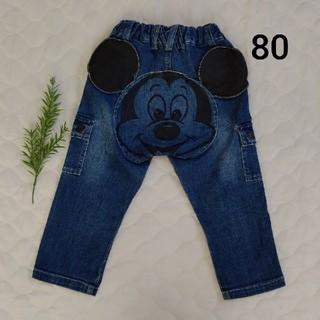 ミッキーマウス(ミッキーマウス)の可愛い♪ ミッキー ディズニー デニムパンツ 80㎝(パンツ)