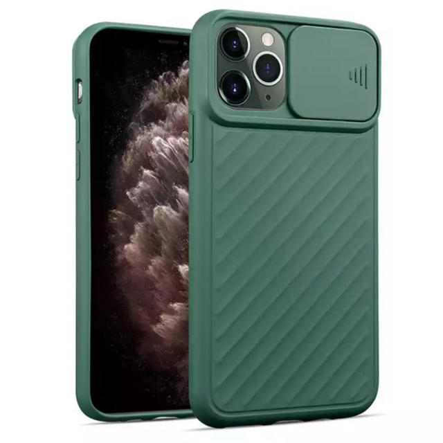 iPhone - iPhone 11Pro カメラレンズ保護スライドカバー付き シリコンケースの通販 by スマビル's shop アイフォーンならラクマ