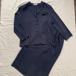 スカート スーツ 上下セット シフォン 13号 LL  2L(スーツ)