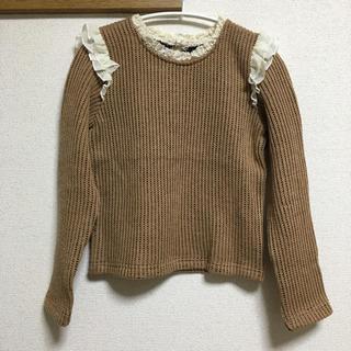 クリスプ(Crisp)のcrisp♡肩フリルニット(ニット/セーター)