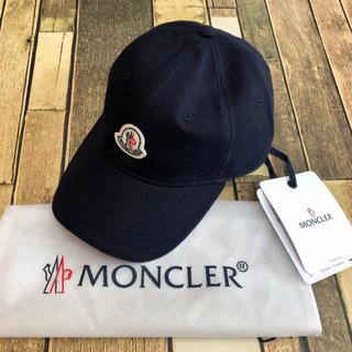 MONCLER - 新品 新作 モンクレール  ベースボールキャップ ネイビー ロゴ ワッペン