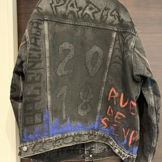 Balenciaga - balenciaga graffiti denim jacket 46