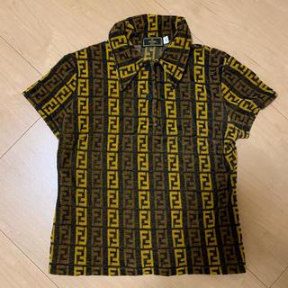 フェンディ(FENDI)の◇FENDI◇ 90s ズッカ柄 イタリア製 ビンテージ 総柄 パイル(ポロシャツ)