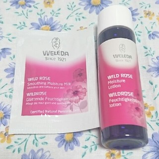 ヴェレダ(WELEDA)のヴェレダワイルドローズモイスチャーローションとミルクサンプルセット(化粧水/ローション)