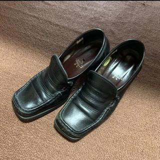 アシナガオジサン(あしながおじさん)のあしながおじさん ローファー ブラック(ローファー/革靴)
