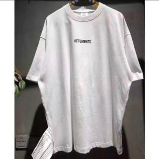 サンベットモン(saintvêtement (saintv・tement))のイムカン様専用★vetements タグTシャツ XL 白 インポート(Tシャツ/カットソー(半袖/袖なし))