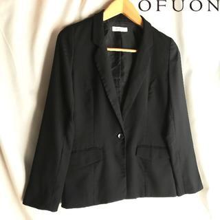 オフオン(OFUON)のOFUON オフオンテーラードジャケットシングル1つボタン 黒(テーラードジャケット)