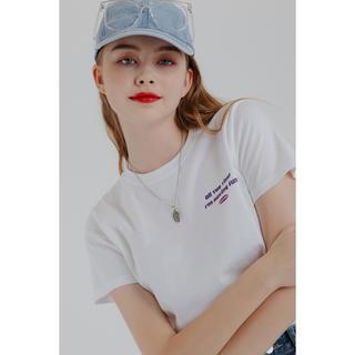 ミックスエックスミックス(mixxmix)のフロントバックレタリング半袖Tシャツ(Tシャツ(半袖/袖なし))