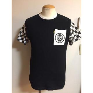ワコマリア(WACKO MARIA)の超希少 RAT LAND チェッカー ポケット Tシャツ S 白黒 XPV(Tシャツ/カットソー(半袖/袖なし))