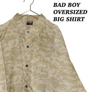 バッドボーイ(BADBOY)のBAD BOY バッドボーイ 総柄 ビッグ プリント シャツ 古着 韓国系 (シャツ)