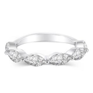 【newデザイン】輝くマーキス  モアサナイト  ダイヤモンド リング(リング(指輪))