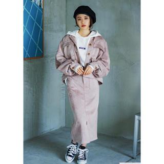 シマムラ(しまむら)のしまむら スエード風ビッグジャケット(ミリタリージャケット)