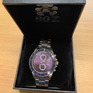 ディズニー(Disney)のミッキーマウス80周年腕時計パープルC(腕時計)