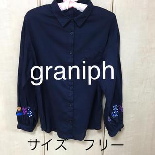 グラニフ(Graniph)の【graniph】コットン100%ブラウス(シャツ/ブラウス(長袖/七分))
