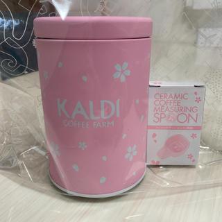 カルディ(KALDI)のKALDI カルディ 春のキャニスター缶セット(コーヒー無し)(容器)