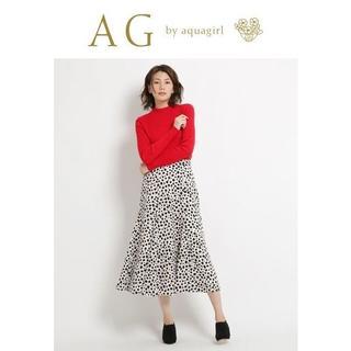 エージーバイアクアガール(AG by aquagirl)の-M-新品 アクアガール AG by aquagirlレパード柄サテンスカート(ロングスカート)