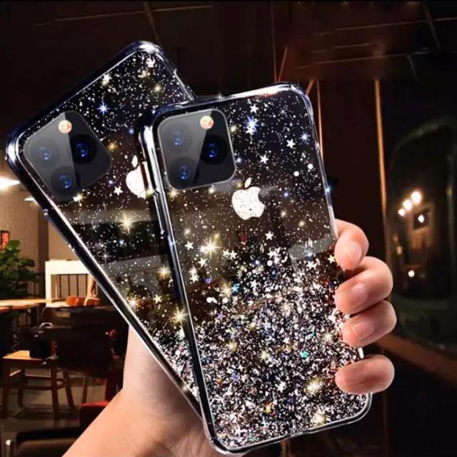 iphone mcm ケース | iPhone11PROキラキラグリッターケース黒新品未使用の通販 by ar.d.duo's shop|ラクマ