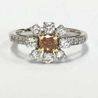 K18 オレンジダイヤモンドリング(リング(指輪))
