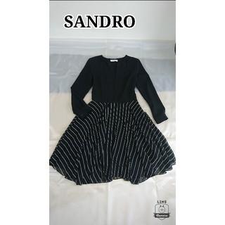 サンドロ(Sandro)の美品♪ sandro ワンピース(ひざ丈ワンピース)