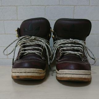 アディダス(adidas)のadidas アディダス スニーカー ブーツ トレフォイル 三つ葉 メンズ 中古(ブーツ)