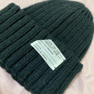 ジーユー(GU)のGU ニット帽 黒(ニット帽/ビーニー)