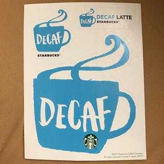 スターバックスコーヒー(Starbucks Coffee)の【スターバックス】DECAFステッカー(その他)