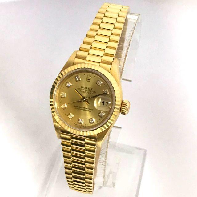 ROLEX - ロレックス腕時計 定価182万円 10Pダイヤモンド デイトジャスト レディースの通販