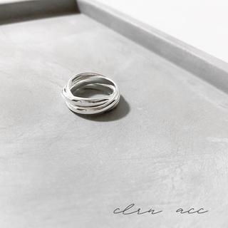 フィリップオーディベール(Philippe Audibert)の トリプル サークル シルバーリング (リング(指輪))