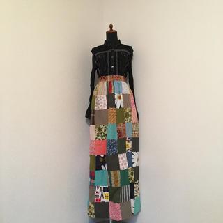 アッシュペーフランス(H.P.FRANCE)の70's  vintage  パッチワークロングスカート(ロングスカート)