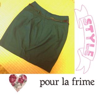 プーラフリーム(pour la frime)の秋色♡ グリーンタイトスカート♪(ミニスカート)
