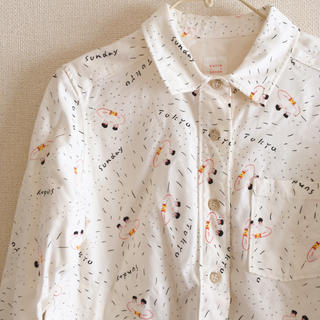 ビュルデサボン(bulle de savon)の手書き風イラストシャツ(シャツ/ブラウス(長袖/七分))