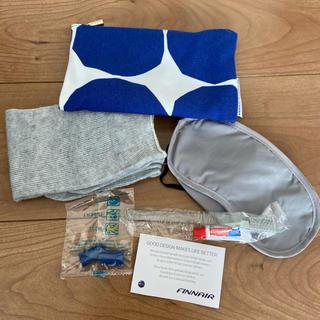 マリメッコ(marimekko)のフィンランド航空 ファンエアー 機内お泊りセット マリメッコ(旅行用品)