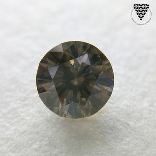 0.586 ct F.DK. BR - YELLOW 天然 ダイヤモンド(リング(指輪))