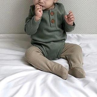韓国子供服lala リブロンパース(ロンパース)