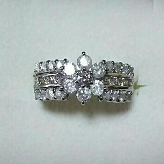 純プラチナピンクダイヤリング pt1000(リング(指輪))
