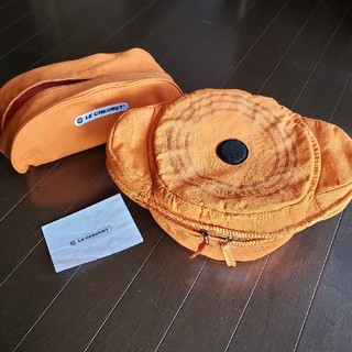 ルクルーゼ(LE CREUSET)のルクルーゼ ポットカバー Lサイズ オレンジ(収納/キッチン雑貨)